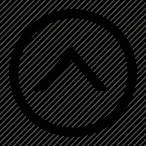 arrow, chevron, circle, medium icon