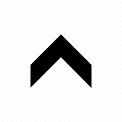 arrow, chevron, fat, medium icon