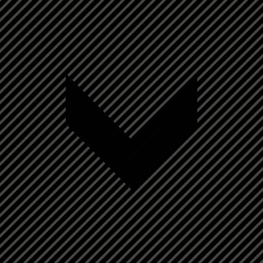 arrow, chevron, fat, medium icon