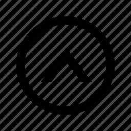 arrow, chevron, circle icon