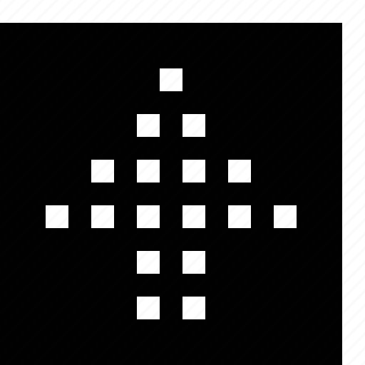arrow, big, dotted, square icon
