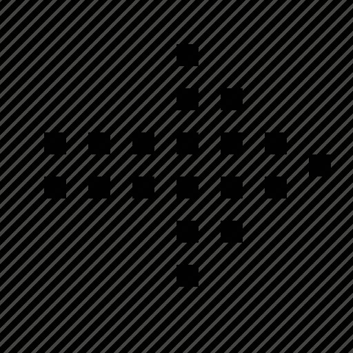 arrow, dotted, medium icon