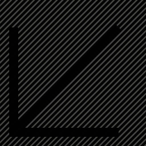 arrow, big, linear icon