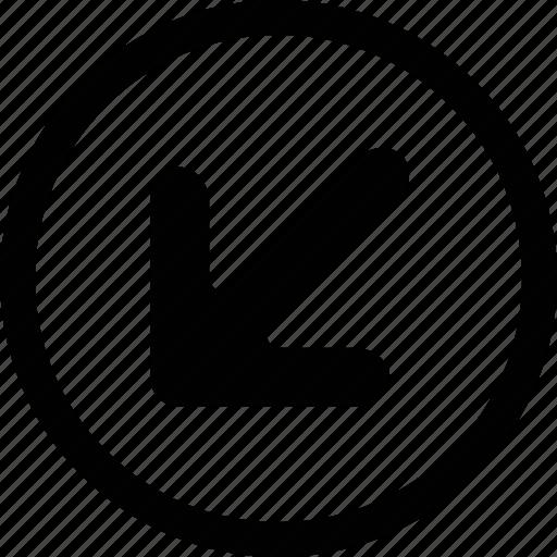arrow, big, circle icon