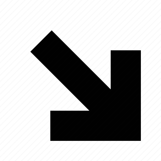 arrow, big, squared icon
