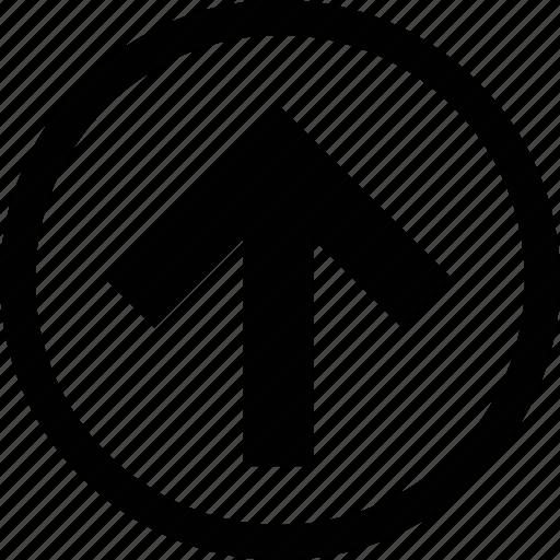 arrow, big, circle, squared icon