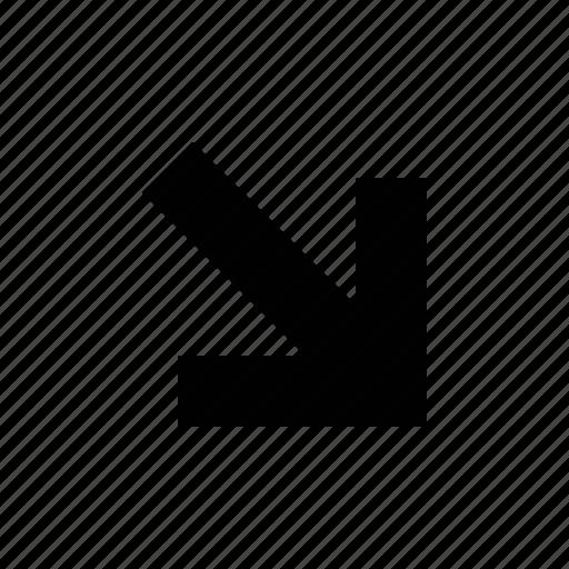 arrow, medium, squared icon