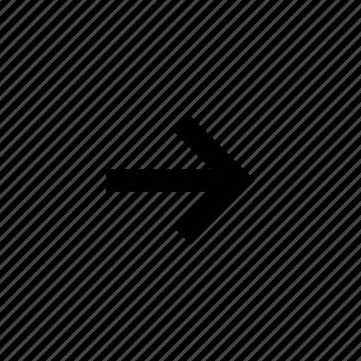 arrow, squared icon