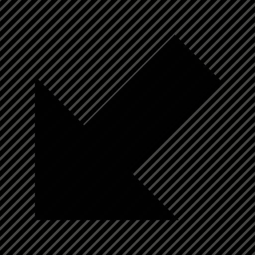 arrow, big, straight icon