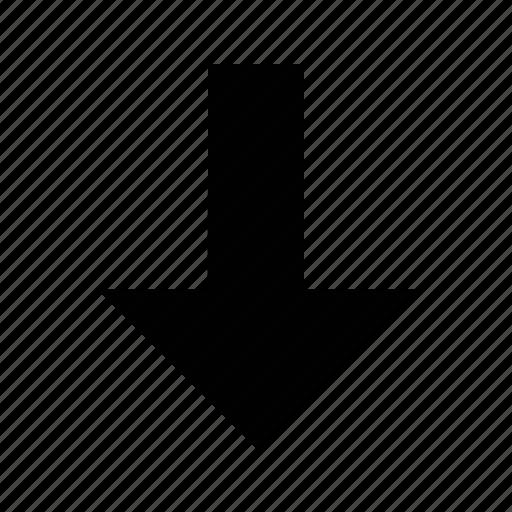 arrow, medium, straight icon