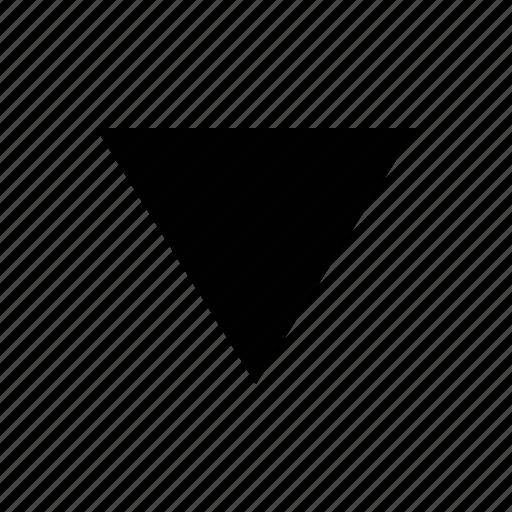 arrow, big, triangle icon