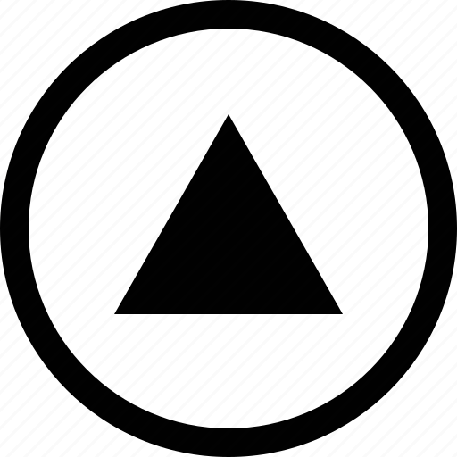 arrow, big, circle, triangle icon