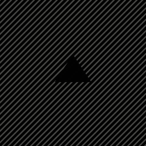 arrow, mini, triangle icon