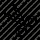 art, cut, designing, scissor, tool icon
