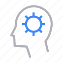 brain, creative, head, mind, setting
