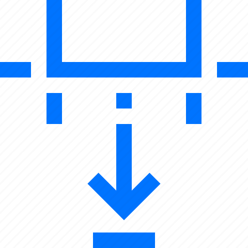 art, bottom, design, down, move, position, resize icon