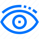 art, design, eye, look, monitor, view icon