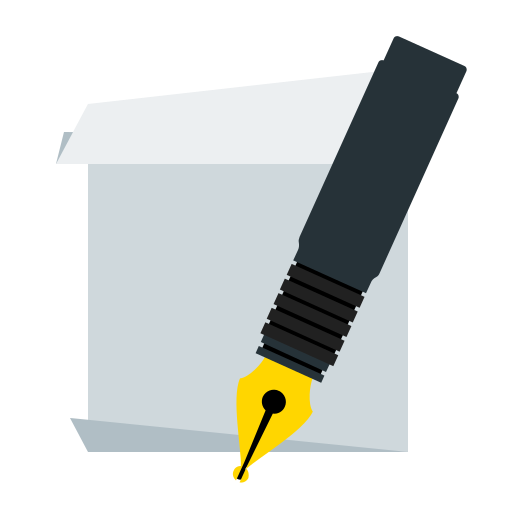 document, paper, pen, sheet icon