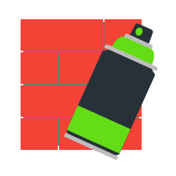 brick, graffiti, green, wall icon