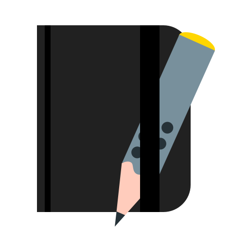 moleskine, notebook, notepad, pencil, write icon
