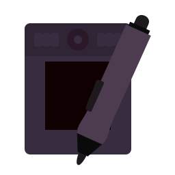 design, graphic, pad, stylus, wacom icon