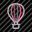 airballoon, art, design, fly, travel icon