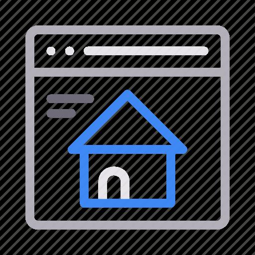 browser, homepage, internet, online, window icon