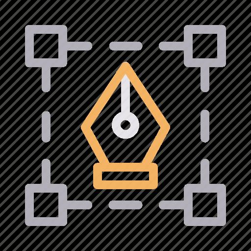 artboard, design, illustrator, pen, vector icon