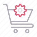 cart, configure, preference, setting, shopping icon