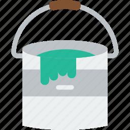 art, bucket, design, paint icon