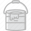 art, bucket, design, paint icon