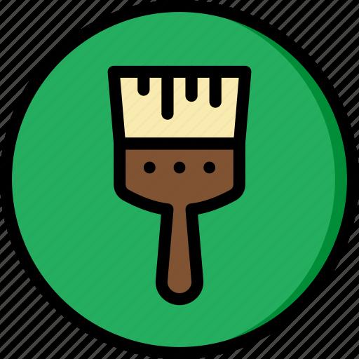 art, brush, design, paint icon