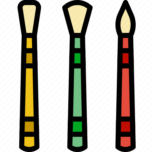 art, brushes, design, paint icon