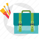 art, bag, supplies icon