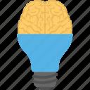 bright idea, creative brain, creative idea, creativity, human intelligence icon