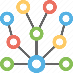 network, network connection, network design, network molecular network structure, network tree icon