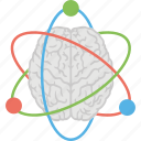 artificial intelligence, atom orbits, brain power, human brain, scientific thoughts icon