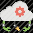 cloud based robots, cloud bots, cloud robotics, cloud technologies, robot and cloud computing icon