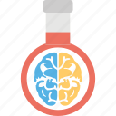 brain inside flask, life science, neurology, neuroscience, scientific study icon