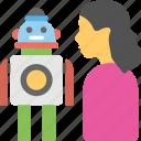domestic robot, humanoid robot, personal robot, robot technology, robotic domestic help icon