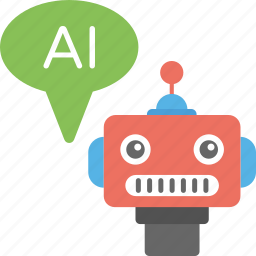 ai robot, artificial conversational entity, artificial intelligence, chatbot, robot icon