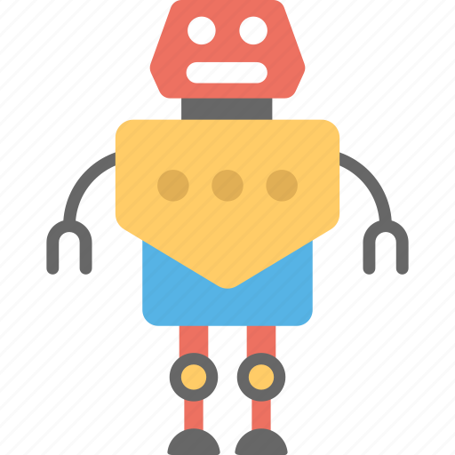 artificial intelligence, mailing robot, robot assistance, robot mailbox, robot technology icon