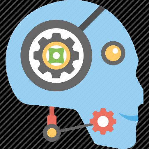 artificial intelligence, robot customer representative, robot customer service, robotic chat support icon
