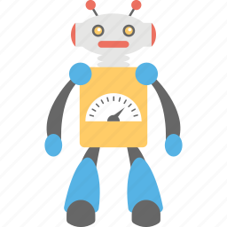 artificial intelligence, bionic man, humanoid, innovation gauge, robot icon