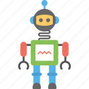artificial intelligence, humanoid robot, mechanical robot, robot, robotic technology icon