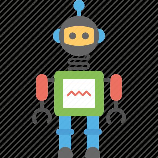 artificial intelligence, humanoid robot, mechanical robot, robot, robotic technology icon