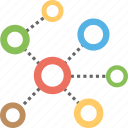 internet connection, network, network connection, network design, network molecular network structure icon
