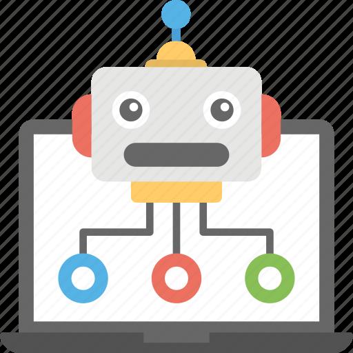 internet bot, robot database, web crawler, web robot, www robot icon