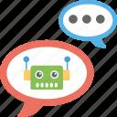 artificial conversational entity, bot, chat bot, chatbot, dialog system, im bot, talkboat