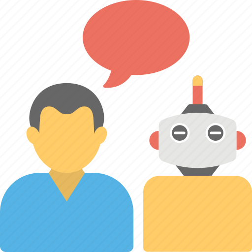 artificial conversational entity, bot, chat bot, chatbot concept, dialog system, im bot, talkboat icon